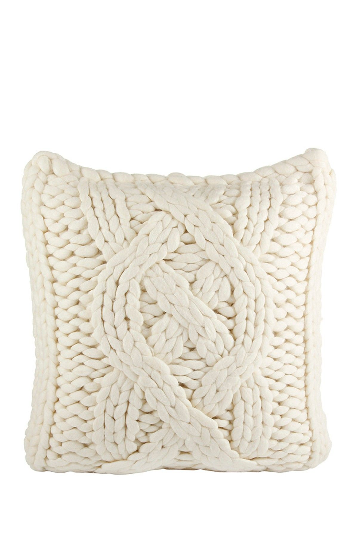 UGG Australia | Oversized Natural White Wool Blend Knit Pillow Cover ...