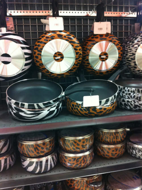 This Is Super Cute Zebra And Leopard Print Pots And Pans