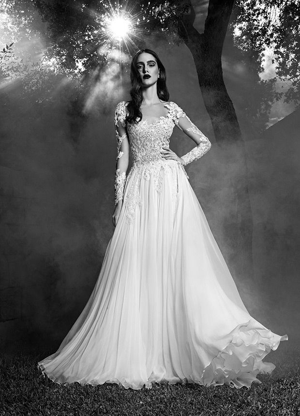 Tori Wedding Dress From Zuhair Murad Dresses Fall 2016 Couture Long Sleeves And Lace Detailing See The Rest Of Collection On