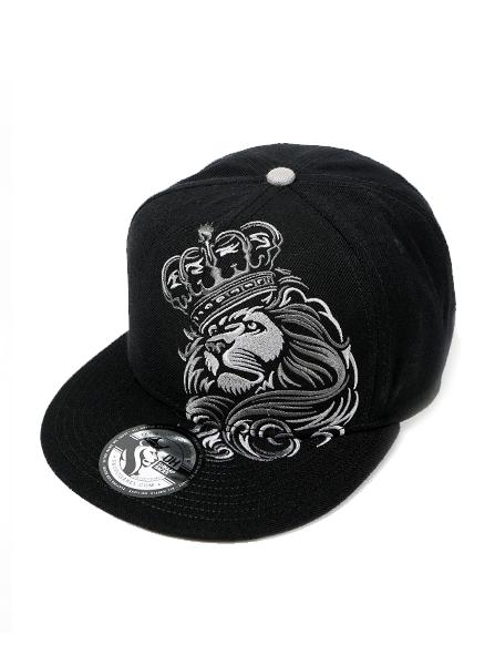 736a3cf83d5 ... france mens crown lion snapback hat by og abel black 31989 535ab