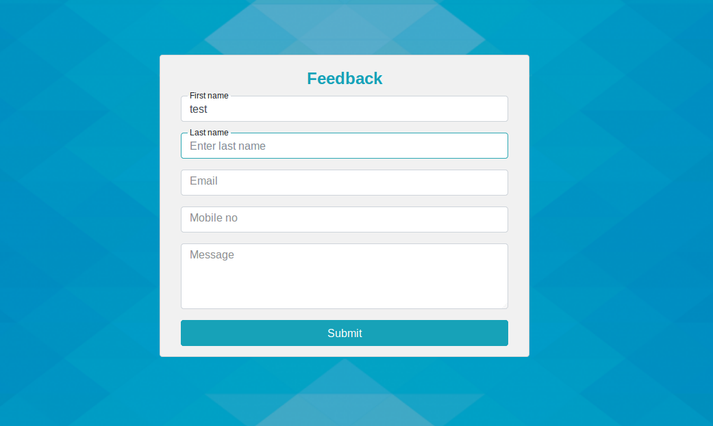 Bootstrap 4 Float Label Css Example With Feedback Form Pinterest