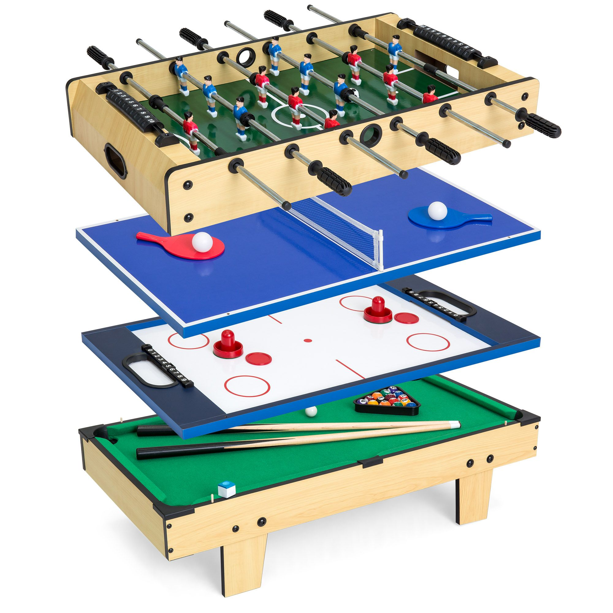 Best Choice Products 4 In 1 Multi Arcade Competition Game Table