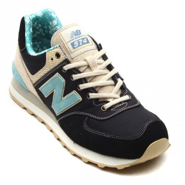 new balance 574 canvas Cyan