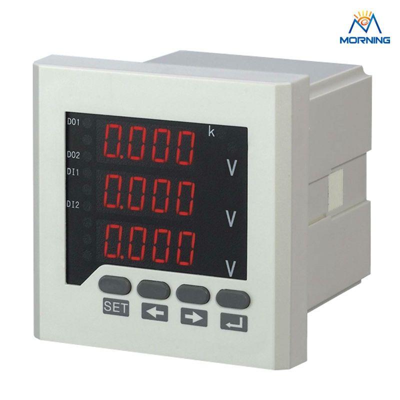 3av73 Panel Size 80 80mm Factory Price 3 Phase Digital Voltmeter 3 Lines Led Display Electric Instrument Digital Small Fridges Tools