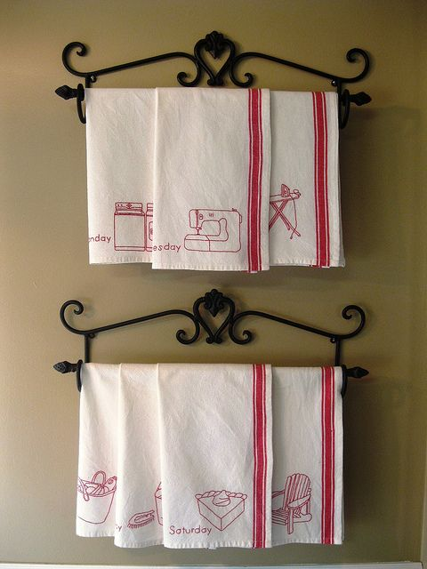 Days Of The Week Dishtowels Tea Towel Display Towel Display
