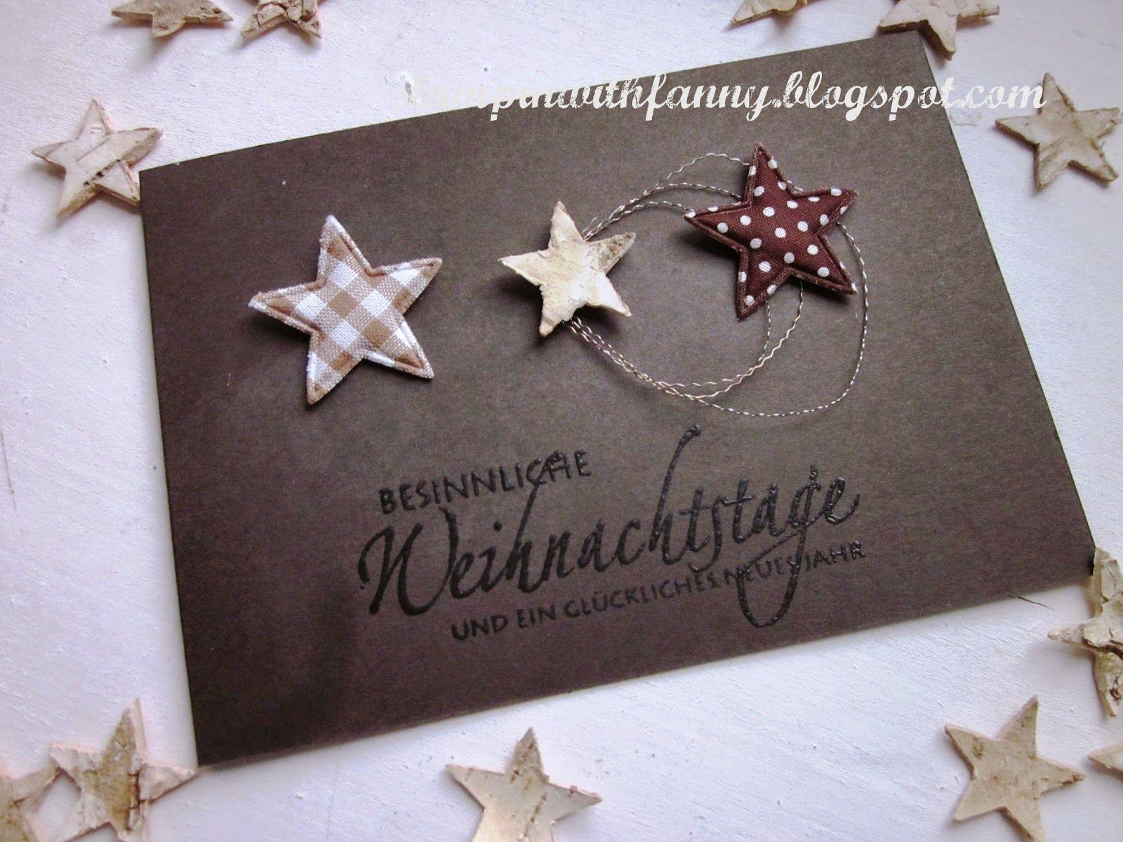Stampin With Fanny Schnelle Weihnachtskarte Weiße Adventsdeko