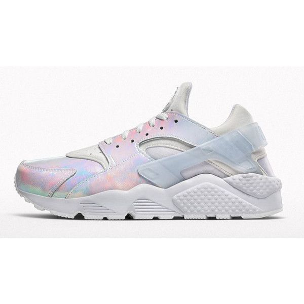 Nike Air Huaraches Get Very Shiny for Summer ❤ liked on Polyvore featuring  shoes, sneakers