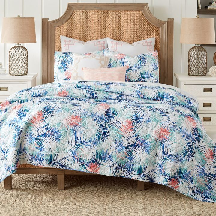 Superbe Coastal Living® Coastal Palm Twin Reversible Mini Quilt Set