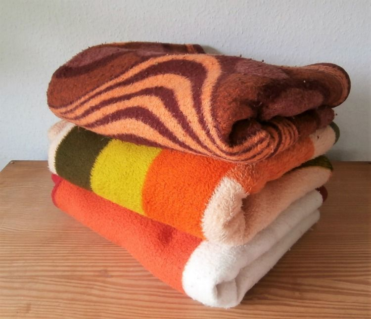 Dralon Retro Vintage Blanket Deken Wolldecke Decke 50s 60s