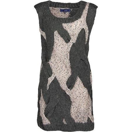 Lumiere Cable Sweater Vest in (Charcoal Pink)