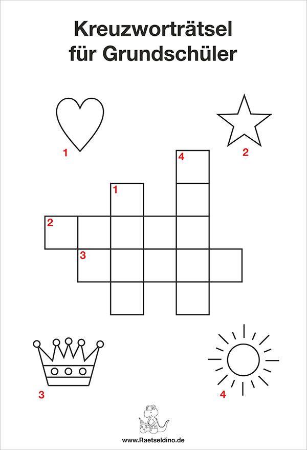 Kinder Kreuzworträtsel Grundschule | scoala | Pinterest