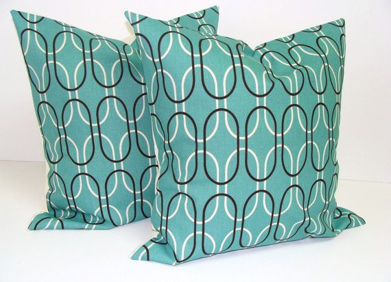 Living Room Pillows! Teal And Brown In 2019