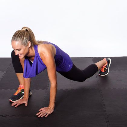 Image result for woman Low Lunge with Isometric Adduction