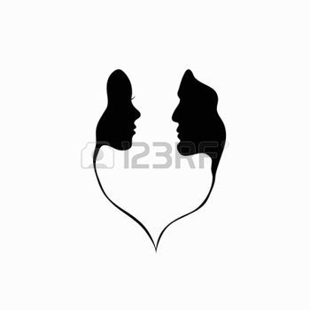 Silhouette Face Stock Illustrations Cliparts And Royalty Free Silhouette Face Vectors Man And Woman Silhouette Silhouette Face Silhouette Man