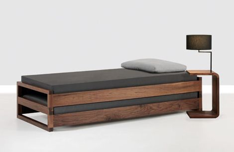 Contemporary Bed by Zeitraum - new Guest bed is 2 beds in 1