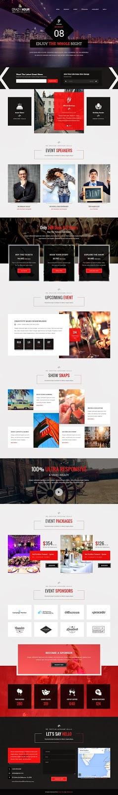 Crazy Hour Best Event Management HTML Template   Web design ...