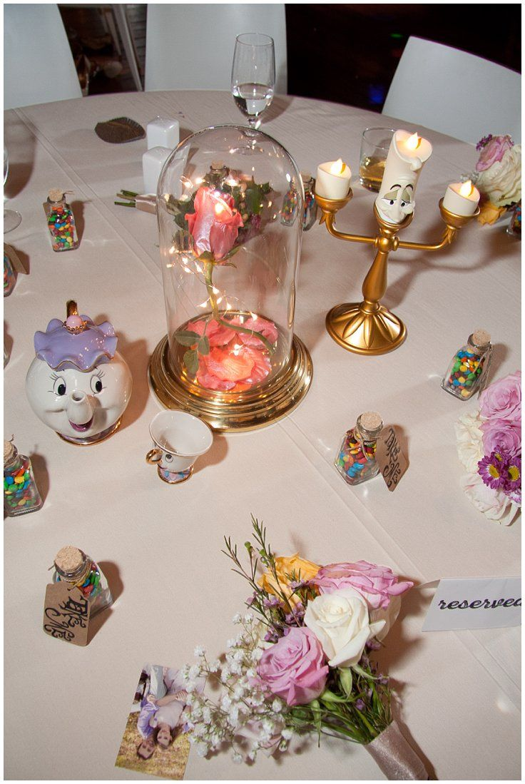 Beauty And The Beast Themed Wedding Centerpiece Disney Inspired