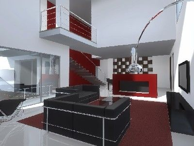Decoracion moderno sala de la tv sala de estar for Sala de estar dibujo