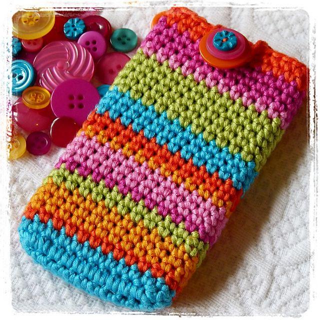 Porta celular multicolor | Porta objetos | Pinterest