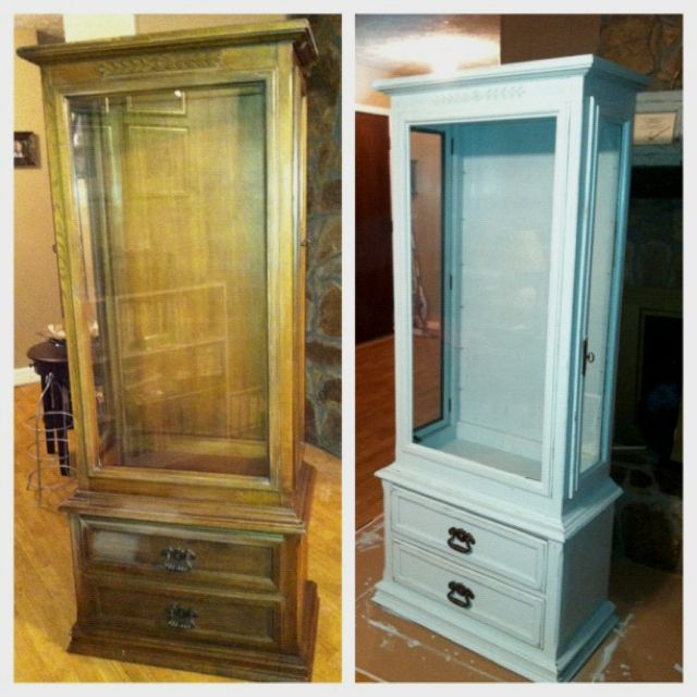 Before And After Hutch Redo Thinking My Mom Needs To Redo A Piece Of  Furniture