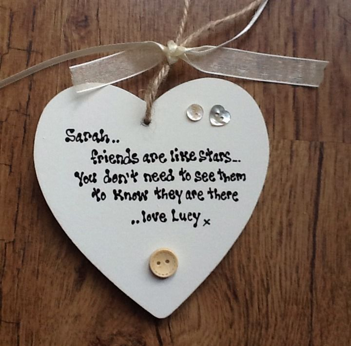 Friends are like stars wooden sign plaque shabby chic gift best friend gift