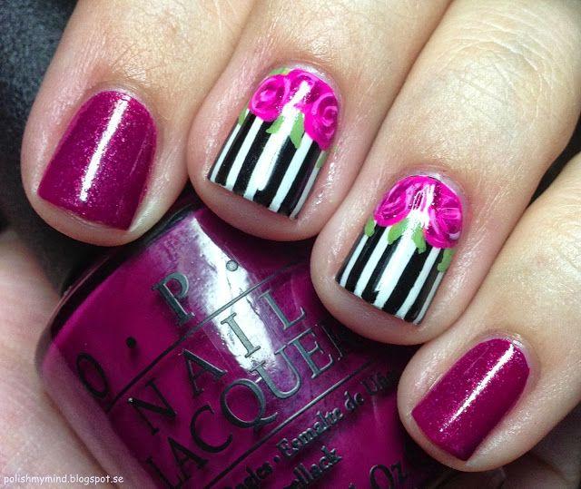 Polish My Mind Vintage Roses I Think Nail Art Inspiration Nails Nails Inspiration