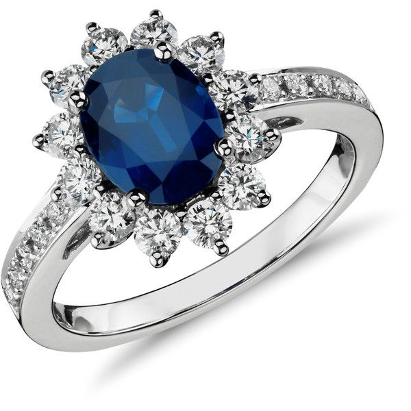 Blue Nile Oval Sapphire and Diamond Ring (¥330,915) ❤ liked on Polyvore featuring jewelry, rings, sormukset, round sapphire ring, sapphire jewelry, oval sapphire ring, diamond engagement rings and diamond rings