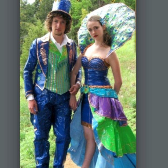 Duct tape peacock prom dress?? | Duct tape dress, Weird ... | 640 x 640 jpeg 55kB