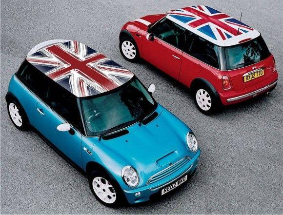 Mini Cooper Roof Uk Flag Design Jack Union Classic Vinyl