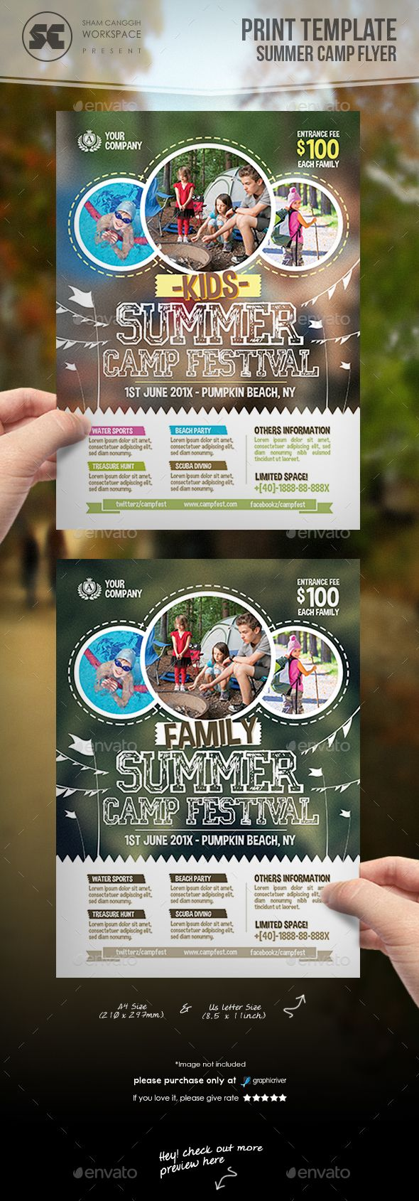 flyer templates for your church or spiritual event promotion buy summer camp flyer by shamcanggih on graphicriver flyer templates designed exclusively for summer camps event sports school activities family day