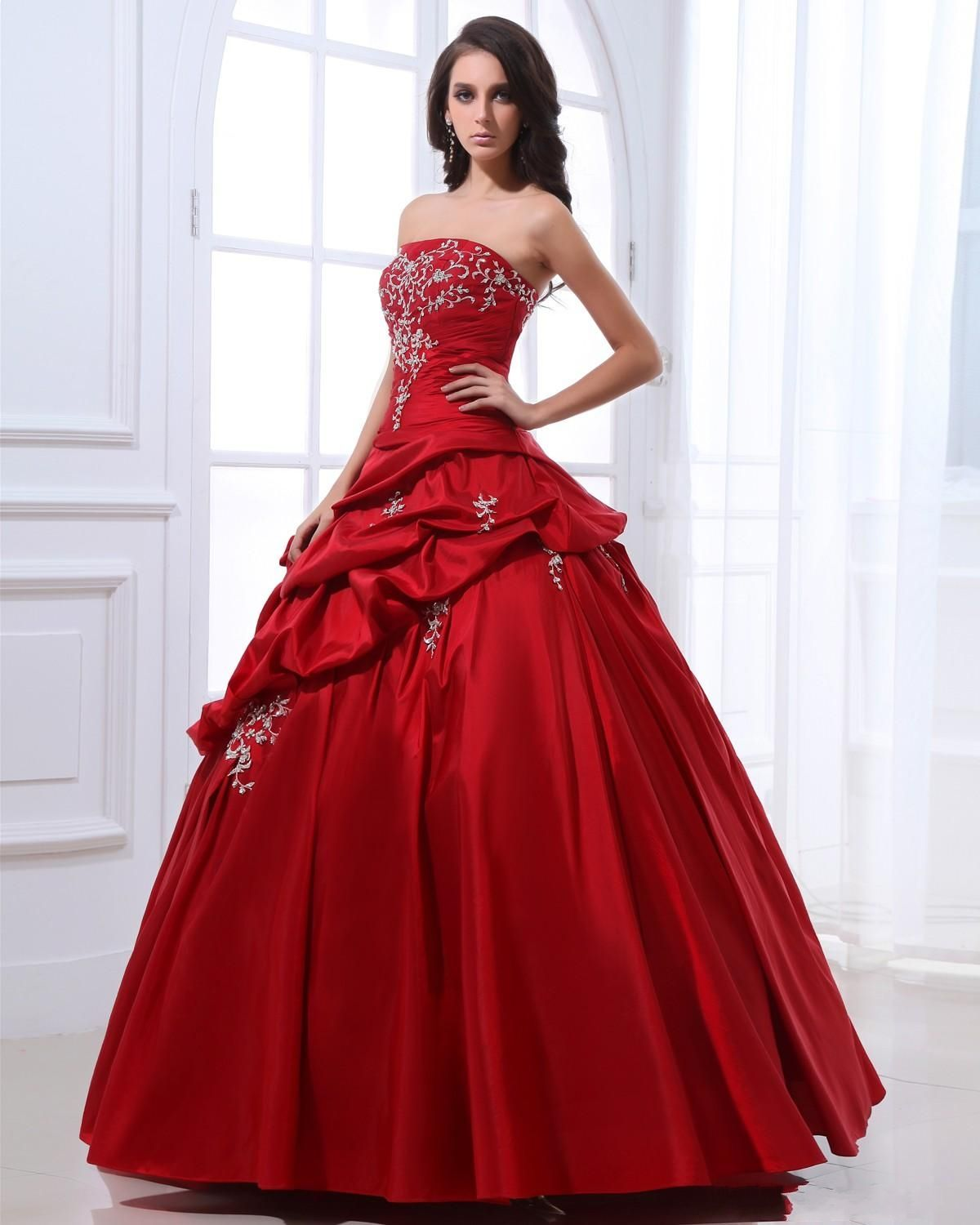 Red Ball Gown Dresses: ... Ball Gown Red Princess Prom Gowns