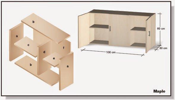 Web del bricolaje dise o diy plano de mueble de melamina for Plano alacena melamina
