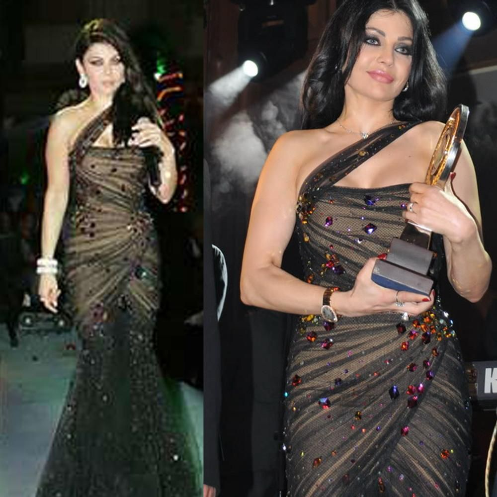 One Shoulder Haifa Wehbe Dress Evening Gowns   Prom Dress   Pinterest