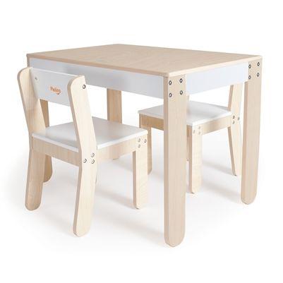 Pkolino Toddler Table And Chairs White Pkfftcwht Con