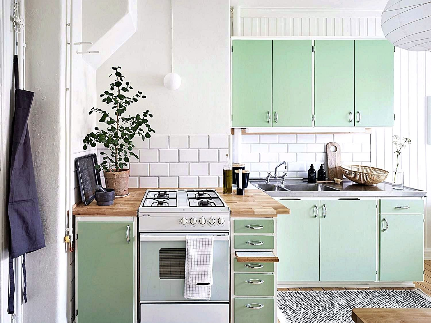 Kitchen Design Ideas A Good Trick And Tip When Decorating A Small Would Be To Incorporate The Application Of Lots Home Kitchens Mint Kitchen Kitchen Interior