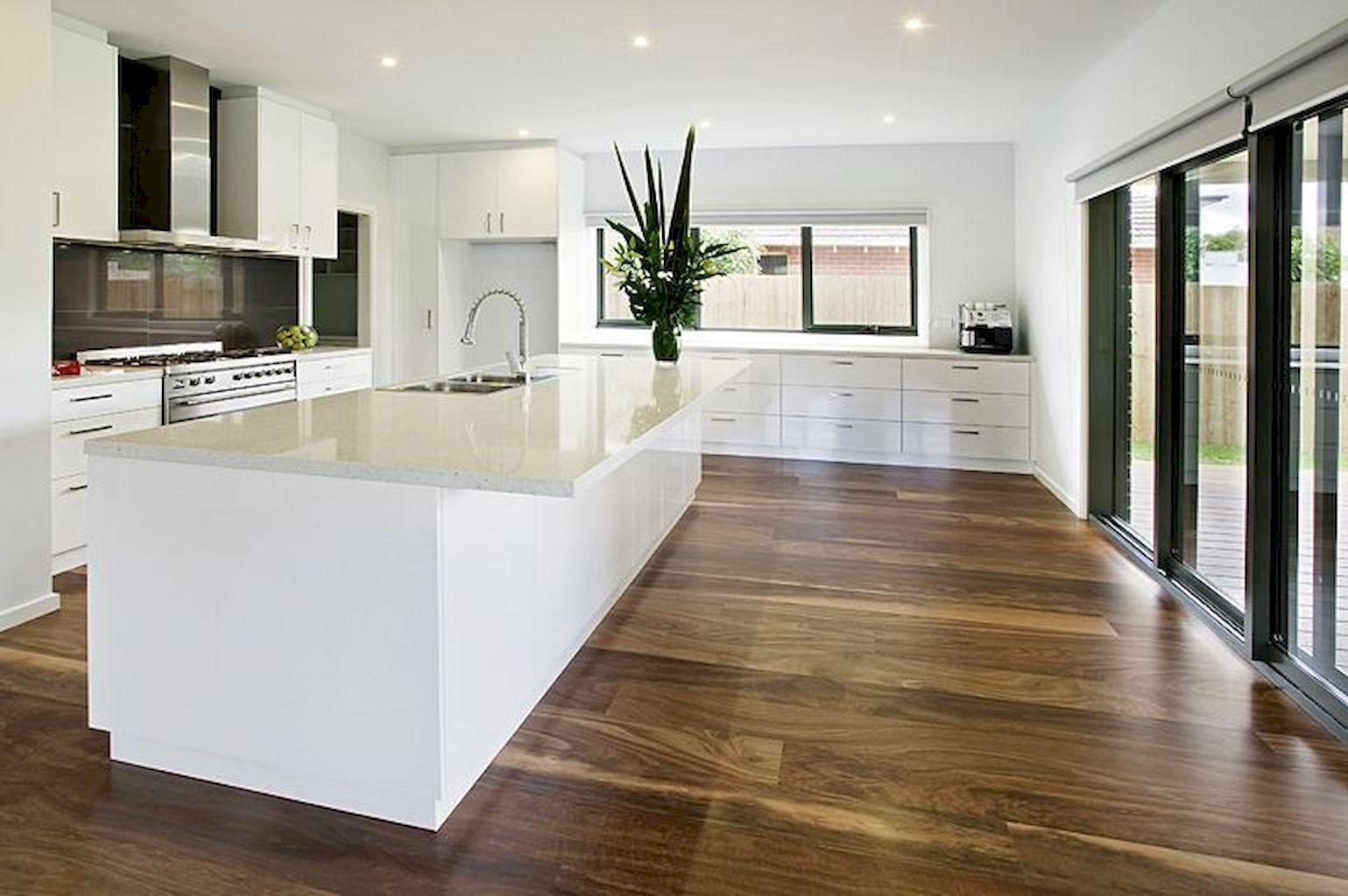 49 modern hardwood flooring design ideas for your kitchen with images floor design kitchen on kitchen flooring ideas id=39077