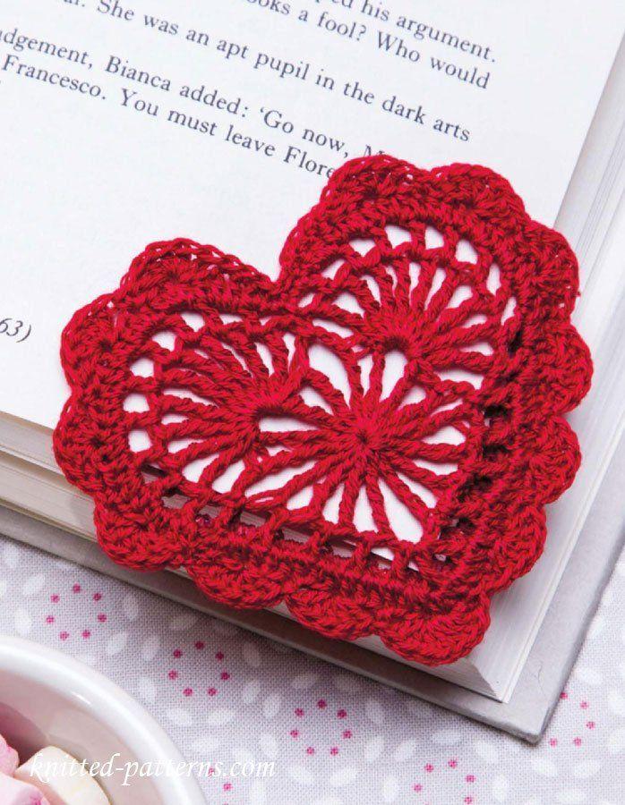 Photo of Lovely Heart Bookmark Free Crochet Pattern