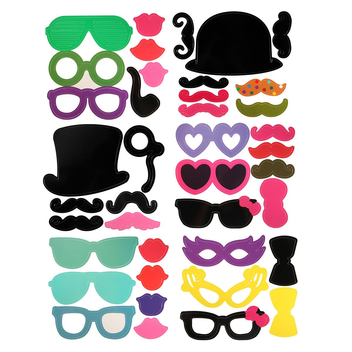Sale 20 (6.99) 40PCS Photo Mustache Stick Booth