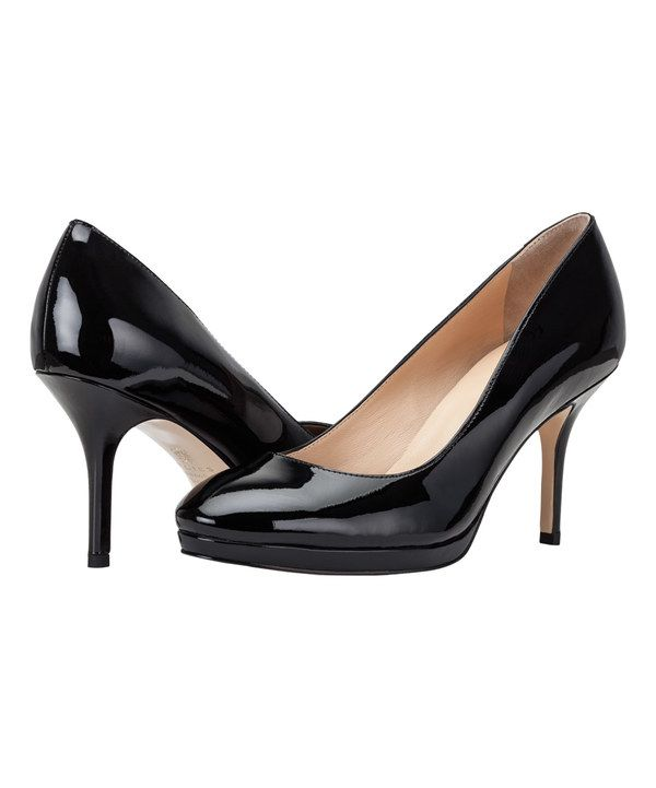 Look at this UKIES Twilight Black Paris Leather Pump on #zulily today!