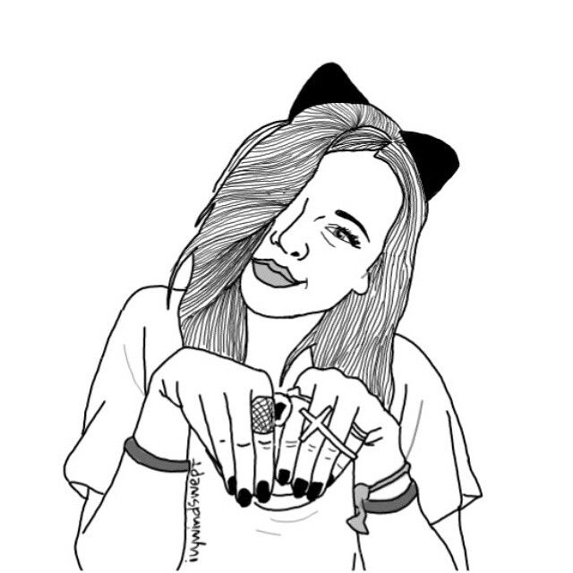 Line Drawing Of Girl Tumblr : Art by ivywindswept ﹏﹏﹏﹏﹏﹏﹏﹏﹏﹏﹏﹏﹏﹏﹏﹏ grunge punk teen