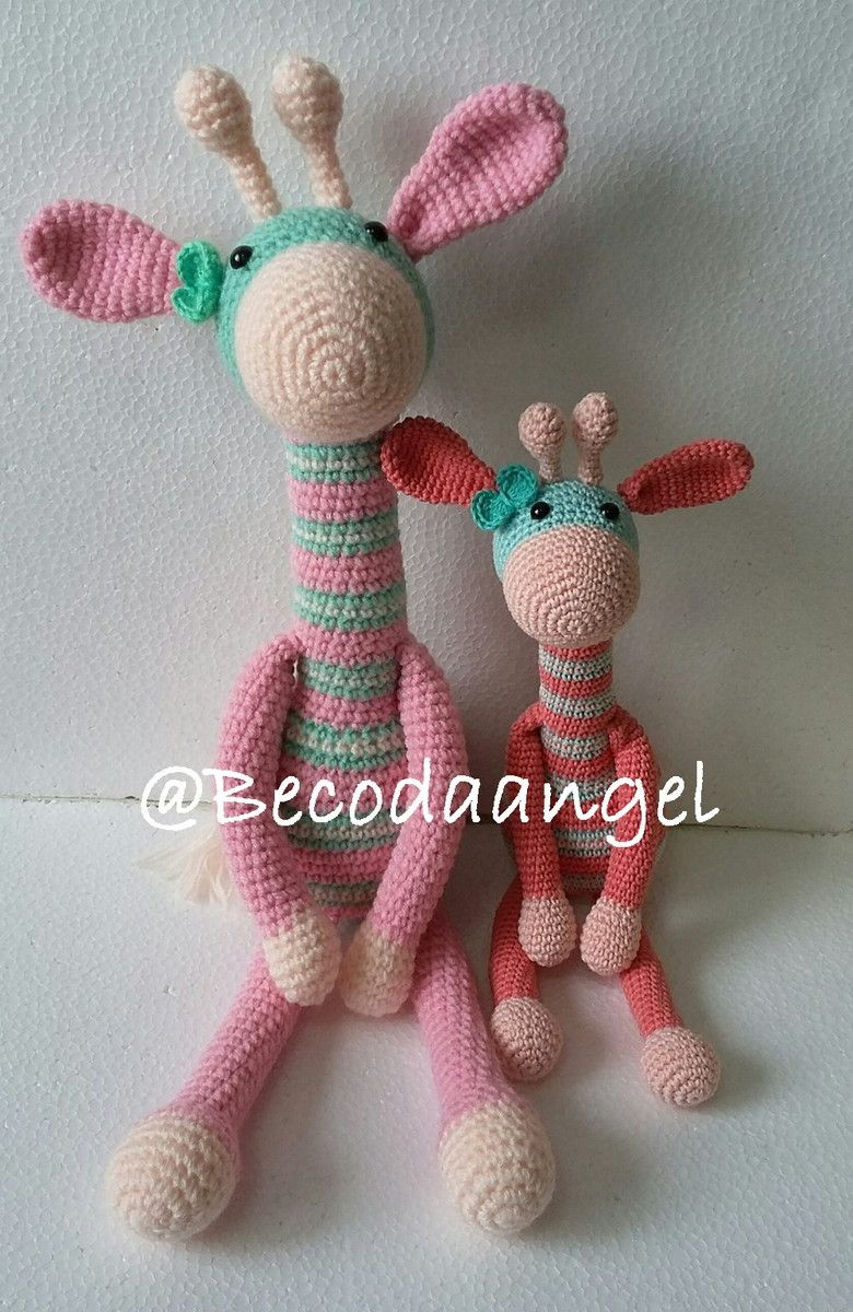 Girafa Colorida Amigurumi | Elo7 | 1200x780