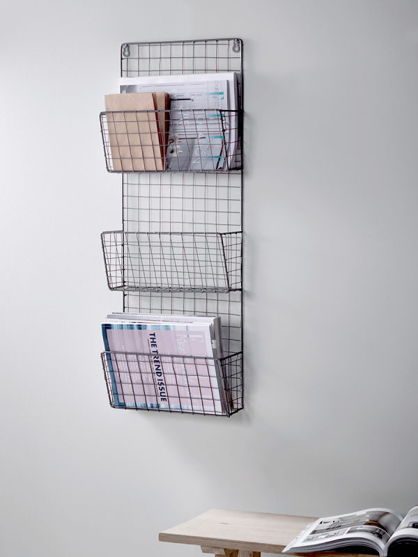 Wire Magazine Rack Home Office Accessories Decorative Luxury Homeware