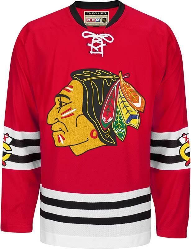 50f33c2be CCM CHICAGO BLACKHAWKS TEAM CLASSIC 1958 59 VINTAGE JERSEY