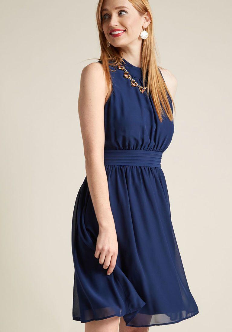 1bdd7f0778 Windy City A-Line Dress in L - Sleeveless Knee Length by ModCloth ...