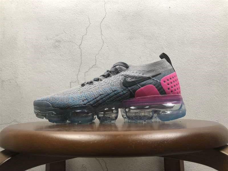 12abf84bb6a73 2018 Women Nike Air VaporMax 2 0 Flyknit Grey Pink Black 852-780479 New Nike  Air VaporMax Shoes Sale