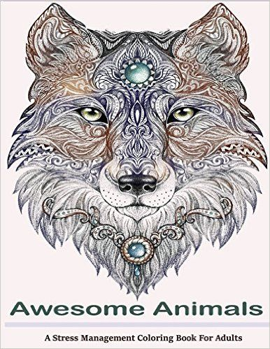 Amazon.com: Awesome Animals Adult Coloring Books: A Stress ...