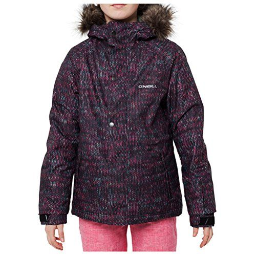037cf385b ONeill Girls Crystal Snow Jacket Size 14 Black AopPink -- More info ...