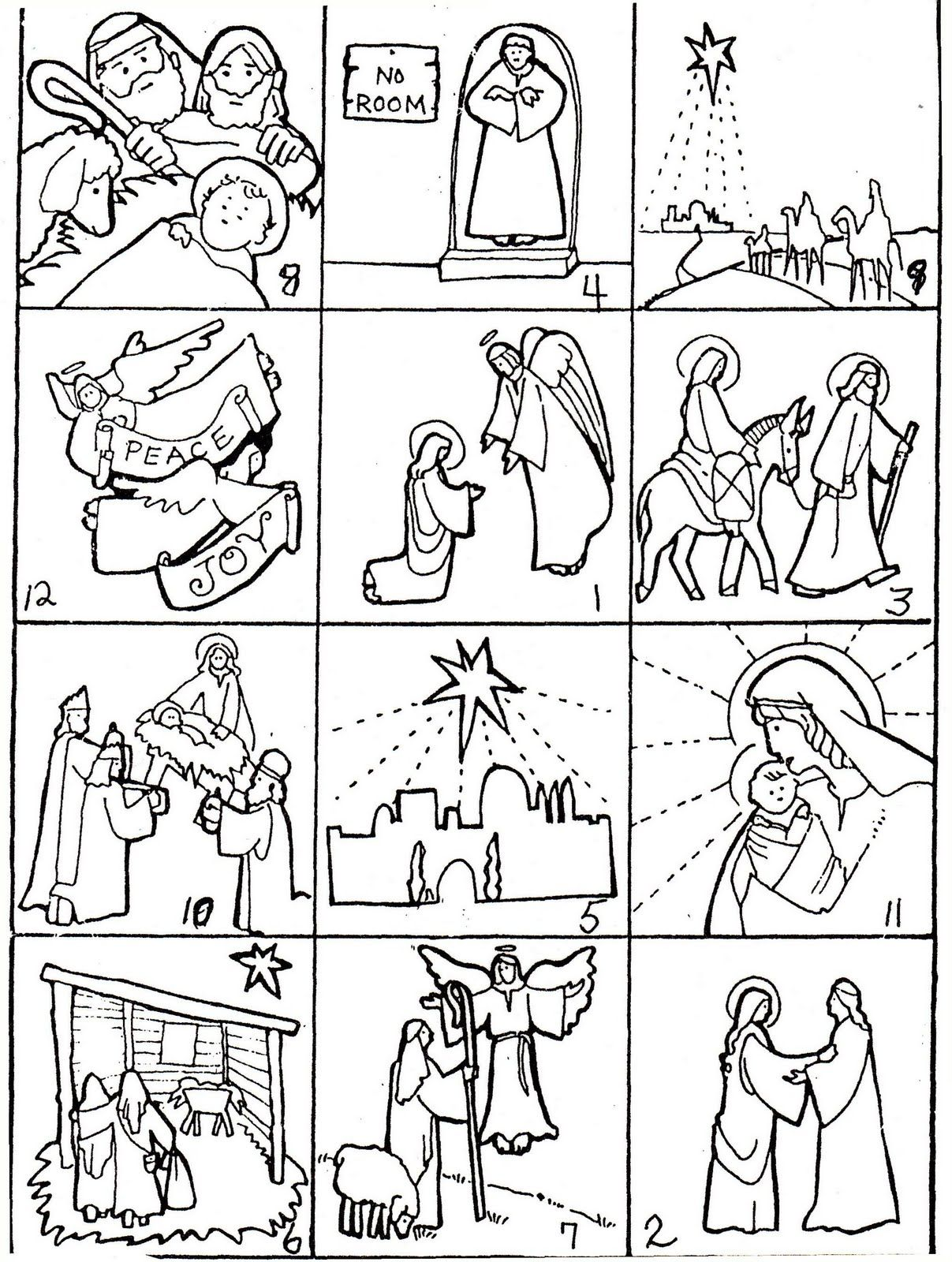 It's just a graphic of Ambitious Printable Nativity Story