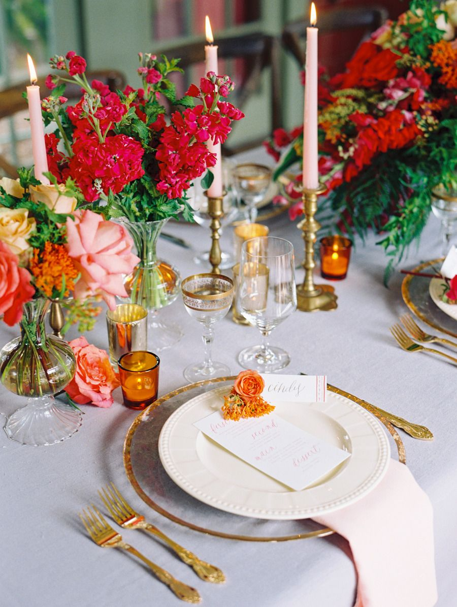 Photography: Katie Stoops Photography - www.katiestoops.com Read More: http://www.stylemepretty.com/2014/10/13/inspired-by-color-blood-orange/