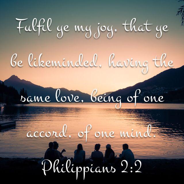 Philippians 2:2, King James Version (KJV) | Same love, King james version, Bible apps